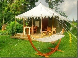 Vergrote afbeelding van Bijzonder overnachten Kamperen in een Indiase Tent in Witteveen